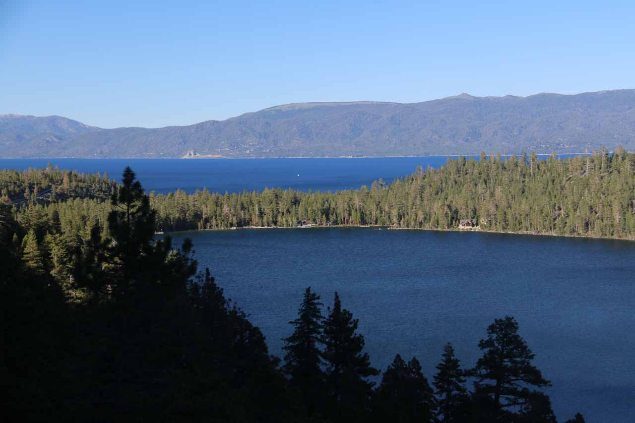Further up the trail, our views of Cascade Lake and Lake Tahoe each with their sapphire blue hues were becoming more straight on and less flatter than before