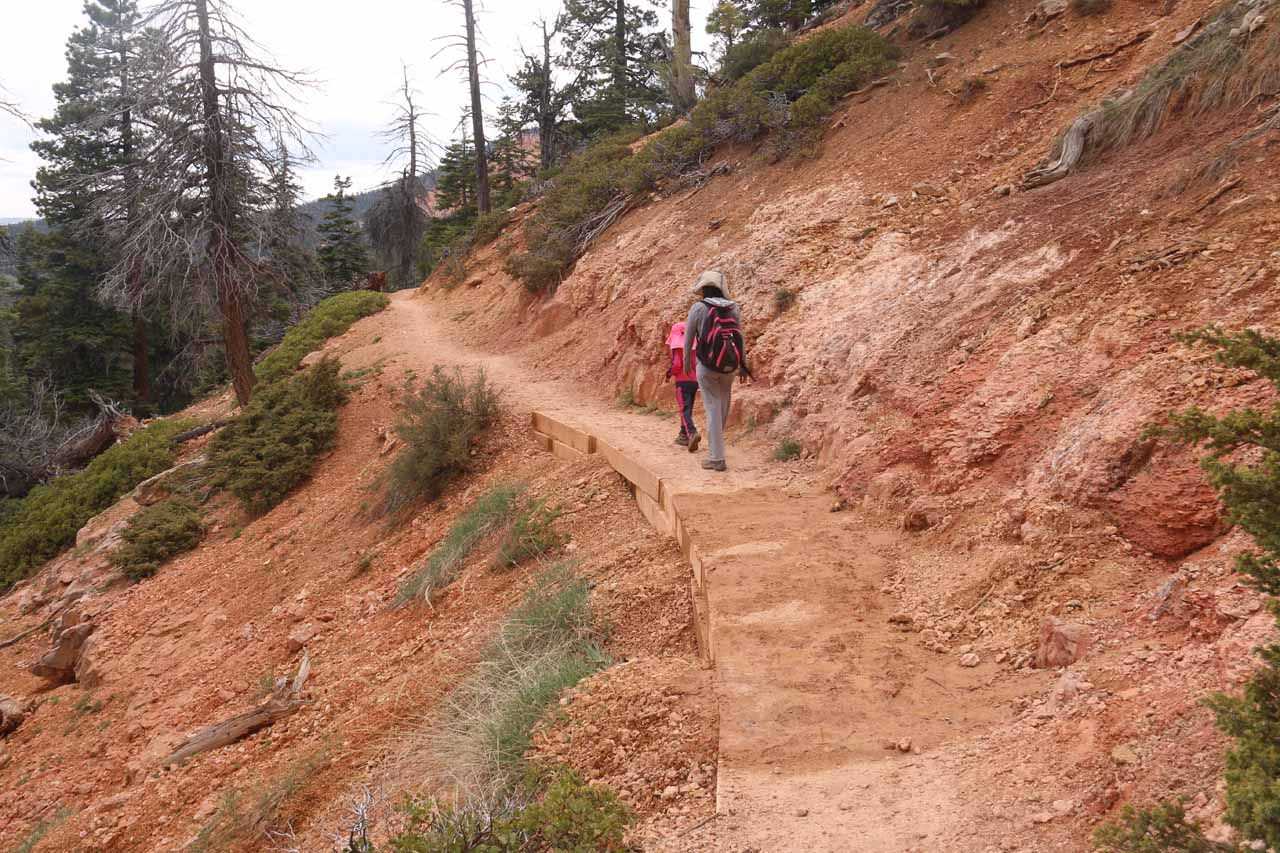 When we did this hike, some parts of the trail were still a little muddy from the snowmelt