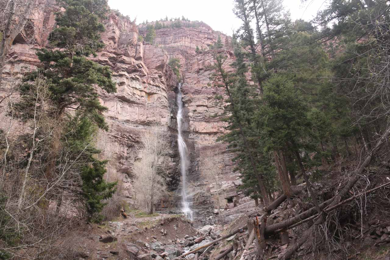 This was the view of Cascade Falls from the sheltered lookout