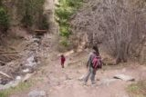 Cascade_Falls_Ouray_052_04172017 - Julie and Tahia headed back down the trail to the trailhead for Lower Cascade Falls in Ouray