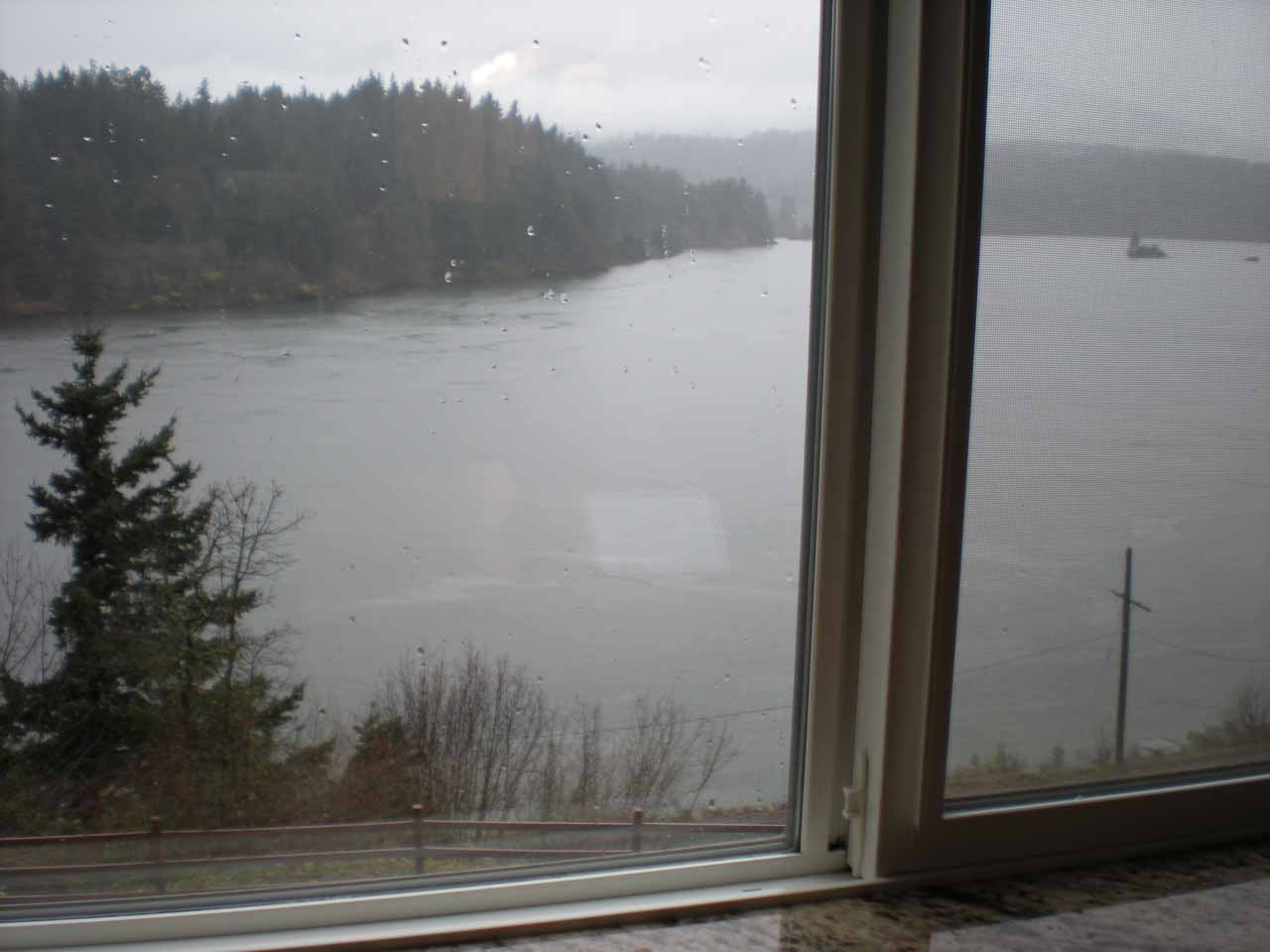 View out of our room at Cascade Locks