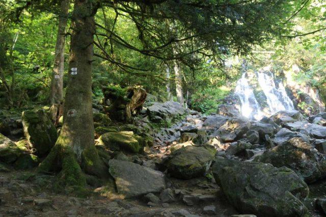 Cascade_de_Tendon_014_06192018 - The rocky path leading closer to the base of the main drop of the Grande Cascade de Tendon