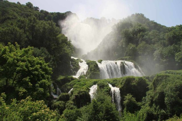 Cascata_della_Marmore_009_20130522 - Cascata delle Marmore in full flow looking against the sun, which was actually not a good time for photographs