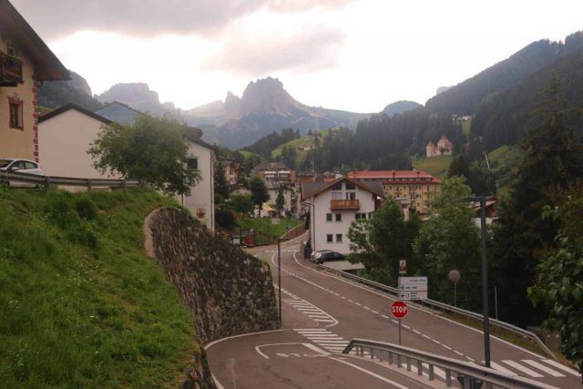 Cascata_di_Tervela_114_07162018 - Looking back down Via Paul Street as I made my way up to an informal spot to get a nice look at the Cascata Tervela with Monte Pana along with the road tunnel for SS242