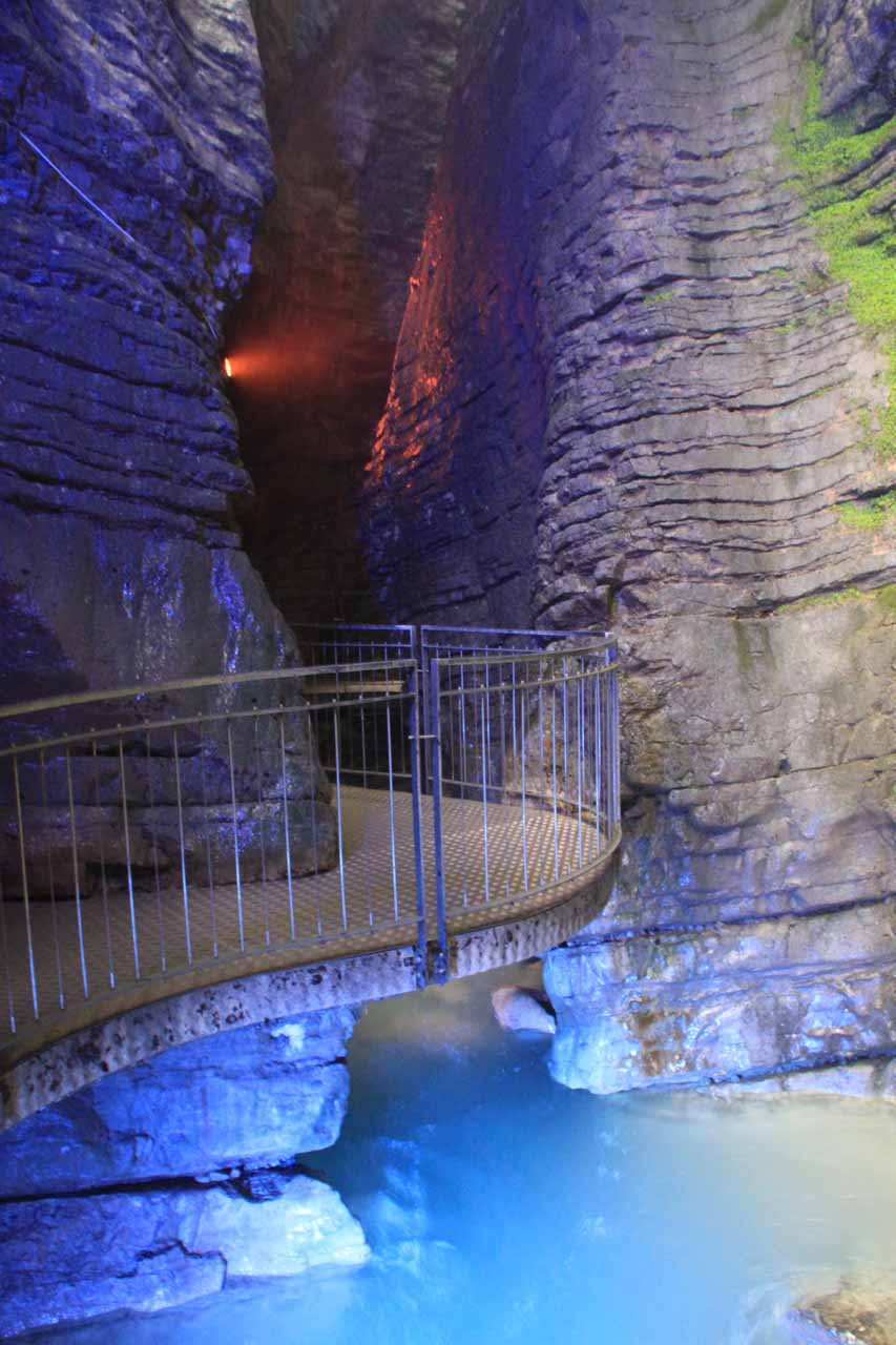 This was the floodlit entrance to the so-called lower cave