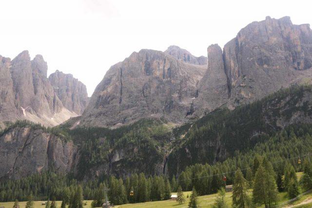 Cascate_di_Pisciadu_001_07162018 - Cascate del Pisciadù tumbling nearly unnoticed beneath the dramatic massif of the Italian Dolomites