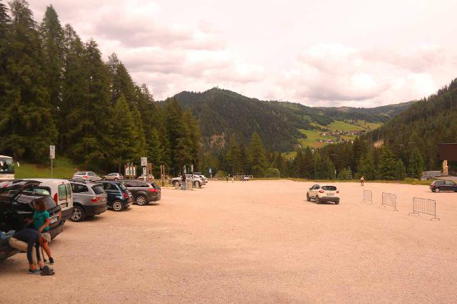 Cascate_di_Pisciadu_037_07162018 - This was the car park for the Colfosco Adventure Park, which was very spacious, but it also might have doubled or tripled the overall hiking distance to reach the Cascate del Pisciadu