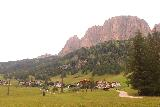 Cascate_di_Pisciadu_059_07162018 - Looking back across the valley towards the Dolomites looming over parts of the town of Colfosco while I was hiking towards the Cascate del Pisciadu