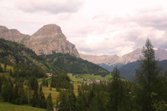Cascate_di_Pisciadu_170_07162018 - Looking back towards Colfosco and the Dolomite Mountains from the base of the Cascate del Pisciadu