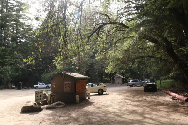 Castle_Rock_001_05192016 - The parking lot within the gates of Castle Rock State Park right off the Skyline Blvd
