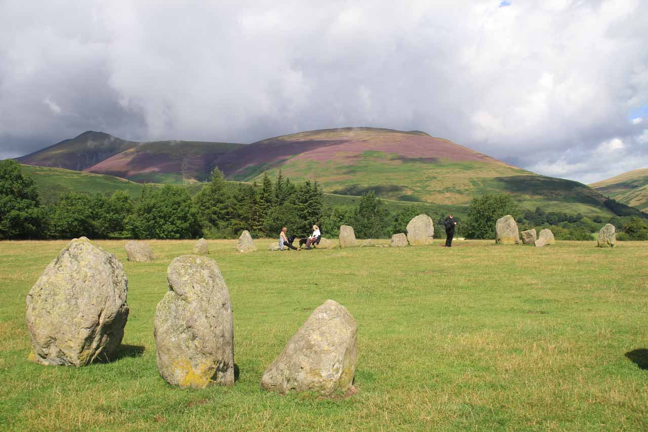 About 30 minutes from Aira Force was the Castlerigg Stone Circle just a mile outside the town of Keswick, which was a scenic stone circle surrounded by shapely mountains