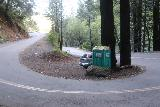 Cataract_Falls_002_04212019 - Looking back across the familiar hairpin turn at the Cataract Creek Trailhead where you can see it pays to get an early start, even as of my latest visit in April 2019