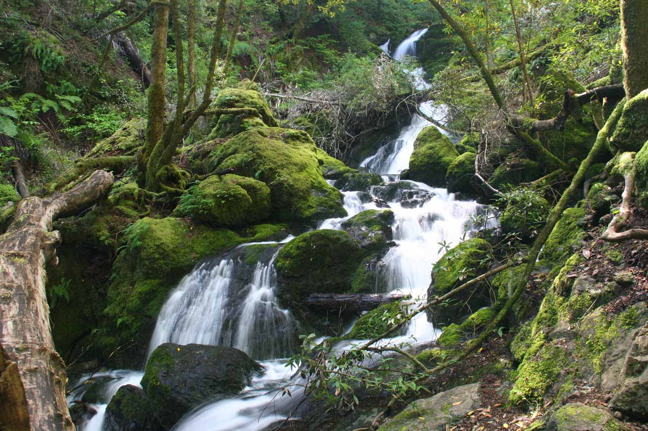 One of the first cascades we saw on the way up
