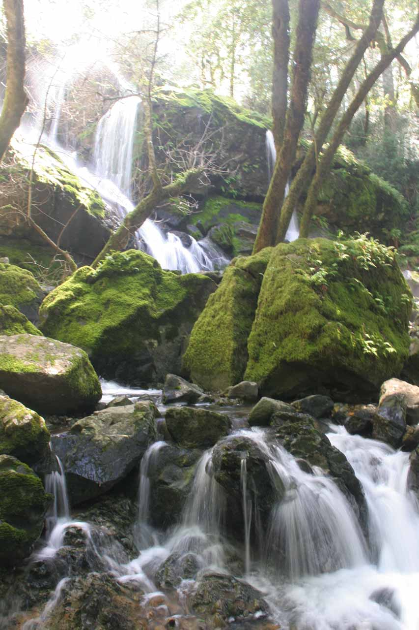 One of the many waterfalls comprising Cataract Falls