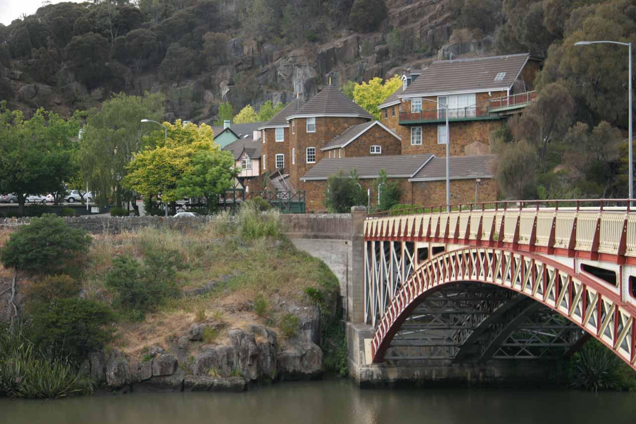 Looking across the bridge at Cataract Gorge