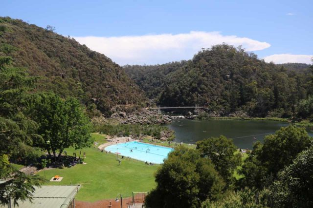 Cataract_Gorge_17_007_11232017 - The Cataract Gorge was Launceston's top attraction as it featured swimming areas to cool off, a scenic walk, chair lifts for a more elevated view, and BBQ shelters as well as eateries