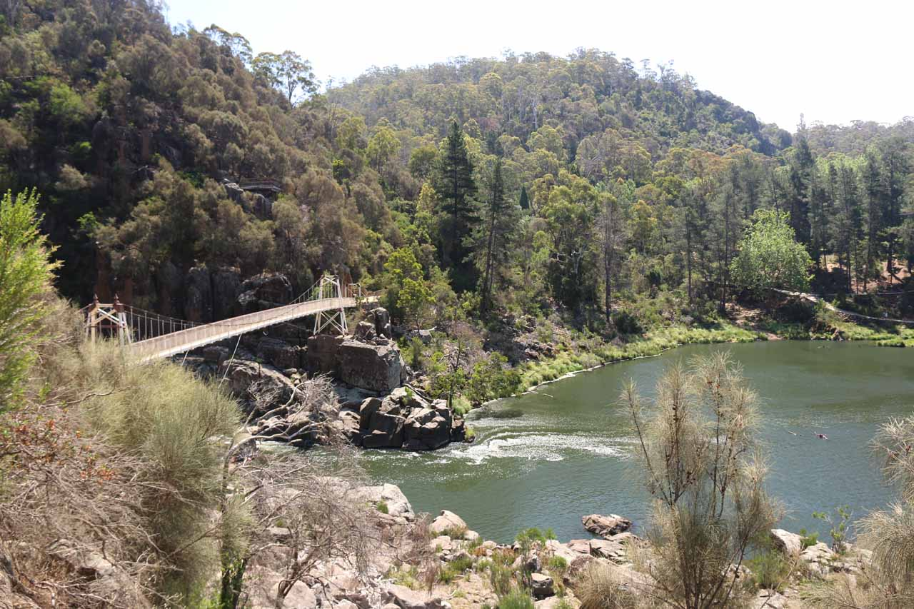 Cataract Gorge was Launceston's top attraction as it featured scenery, swimming, chair lifts, cafes, and even some animals who call the area home