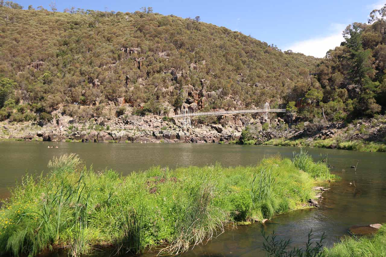 Penny Royal sat right at the mouth of the Cataract Gorge, but further upstream was the more bustling part of the gorge where locals and tourists alike did the walks or swam or picnicked