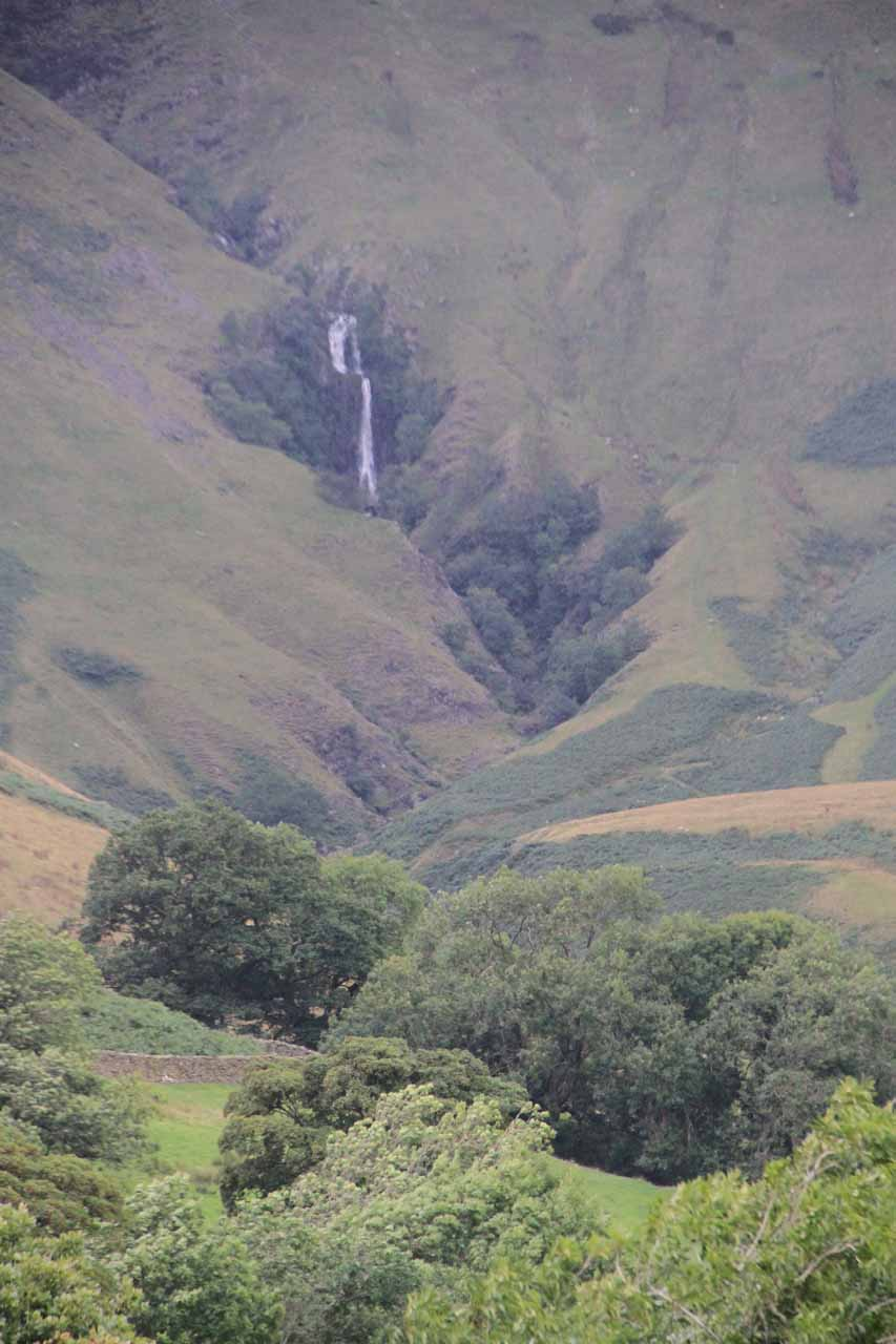 Zoomed in look at the Cautley Spout from a distance