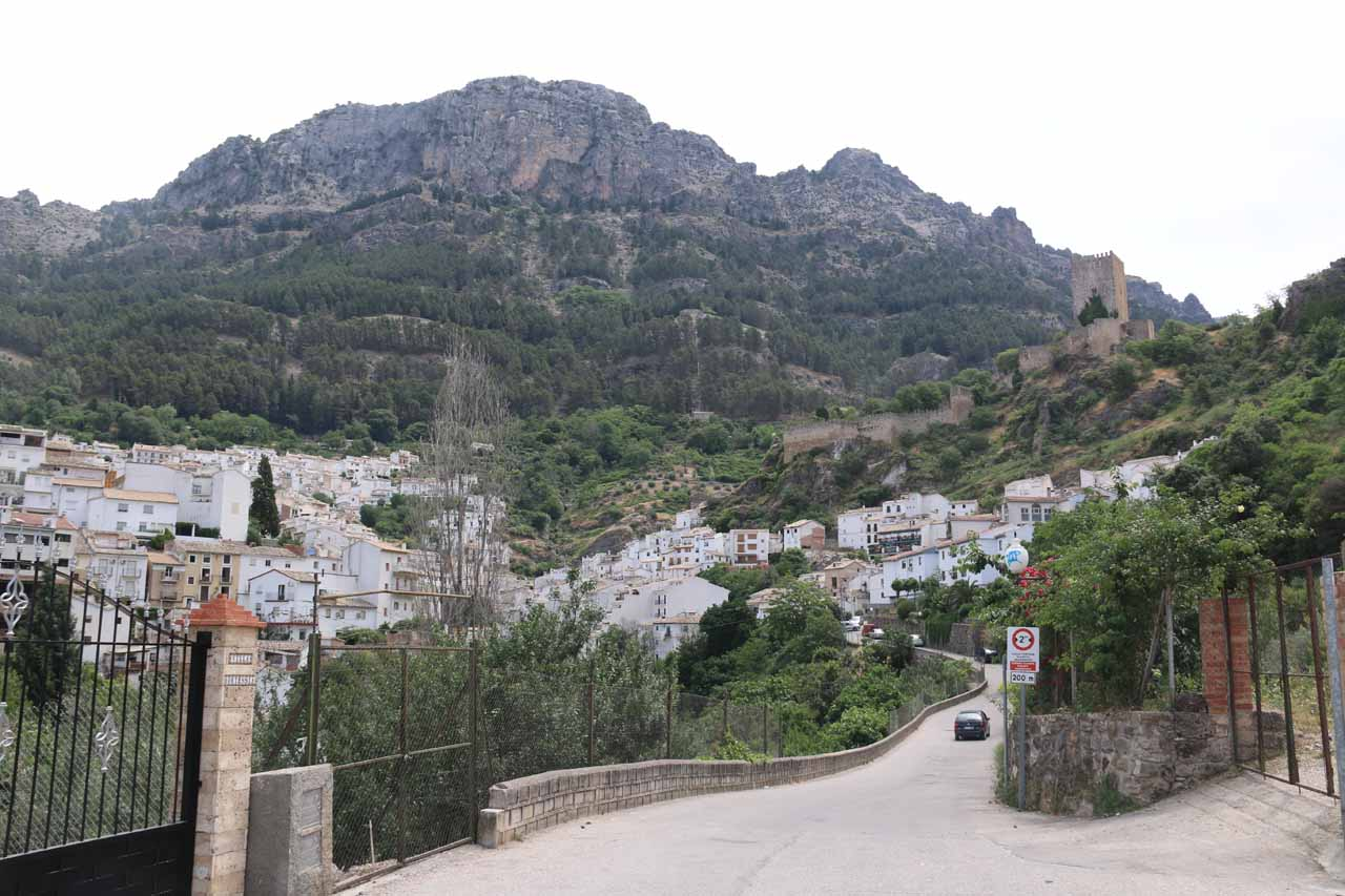 The mountain-hugging town of Cazorla was the gateway to the Sierra de Cazorla natural area, where their picturesque mountains backed the attractive town as shown here