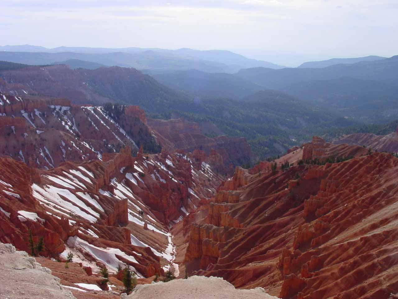 Looking in a different direction at the panorama at Cedar Breaks