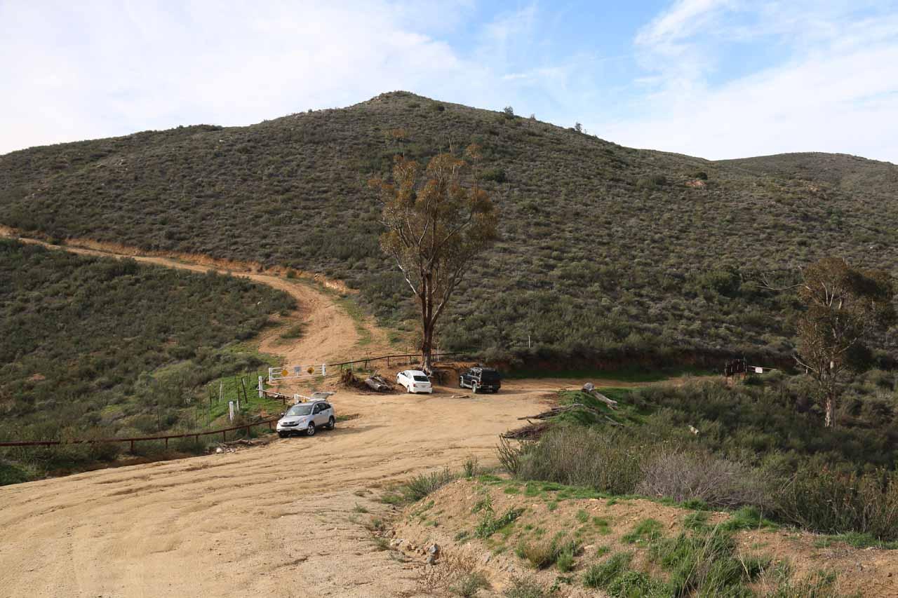 The Saddleback Trailhead at the end of the Eagle Peak Road