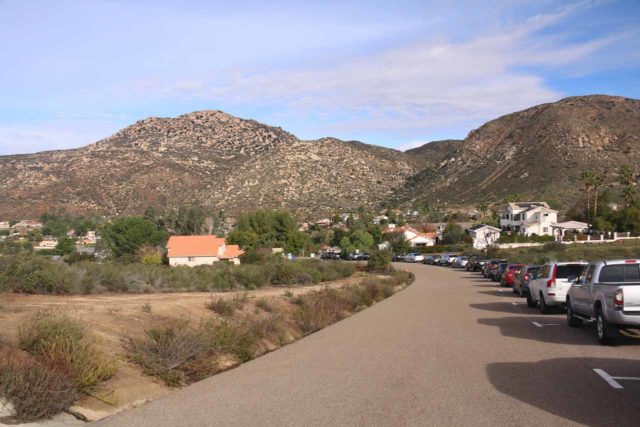 Cedar_Creek_Falls_006_01072017 - Looking back from the end of the road towards the residences of the San Diego Country Estates (formerly the Ramona Estates)