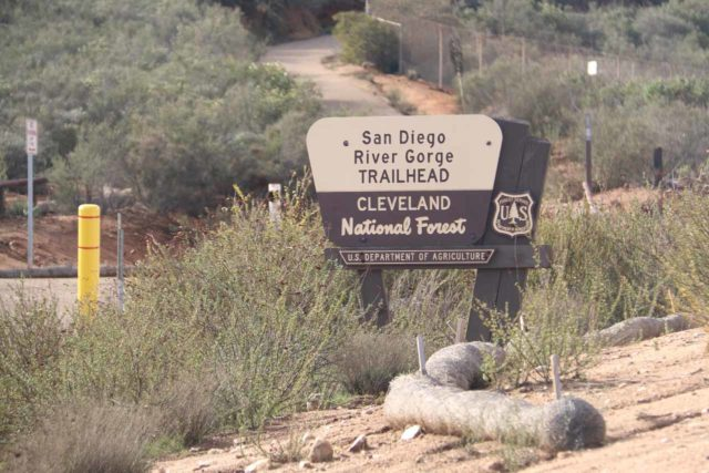 Cedar_Creek_Falls_010_01072017 - The San Diego River Gorge Trailhead at the end of the Thornbush Road was more built-up and it seemed to have the better views