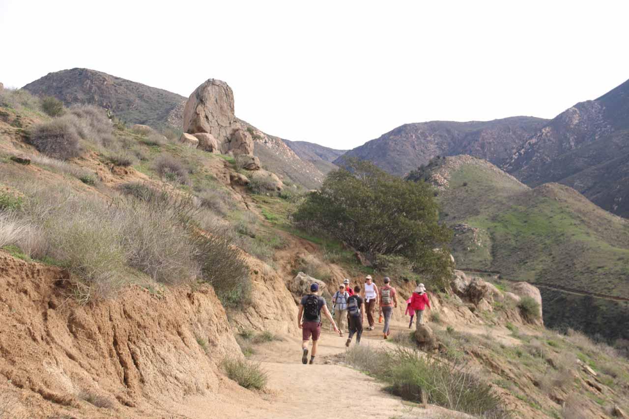 Unlike the Julian side, the Ramona side trail was definitely busier
