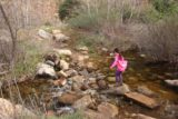 Cedar_Creek_Falls_099_01072017 - Tahia insisting on doing this other stream crossing by herself