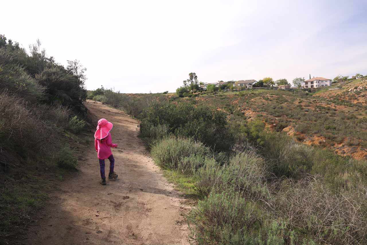 With the San Diego Country Estates homes getting closer and closer, we knew that we were near the end of the hike