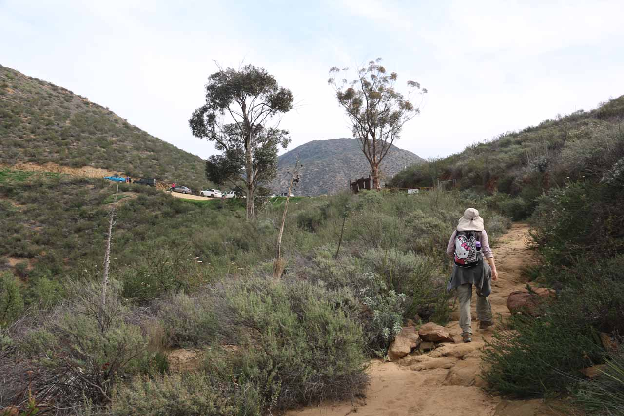 Approaching the Saddleback Trailhead