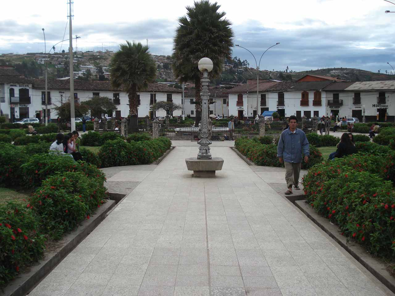 The town square in Chachapoyas