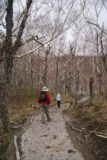 Changbaishan_157_05152009 - Julie and Susan walking towards Little Heaven Lake