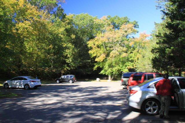Chapman_Falls_001_09282013 - The smaller upper parking lot above the top of Chapman Falls
