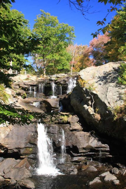 Chapman_Falls_013_09282013 - Viewing Chapman Falls with a hint of Autumn colors above it