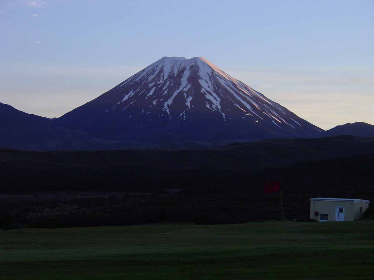 Mt Ngauruhoe as seen from the Chateau Tongariro
