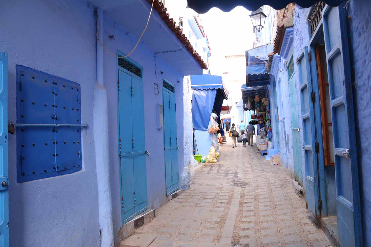 Finally in the medina of Chefchaouen