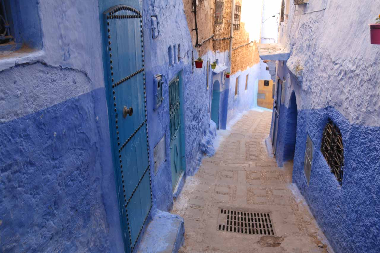 Another atmospheric alleyway in Chefchaouen