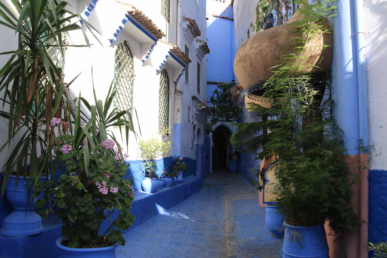 About to enter the Aladdin Restaurant in Chefchaouen
