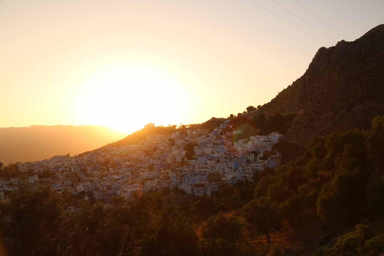 Caught the sunset over Chefchaouen just in time