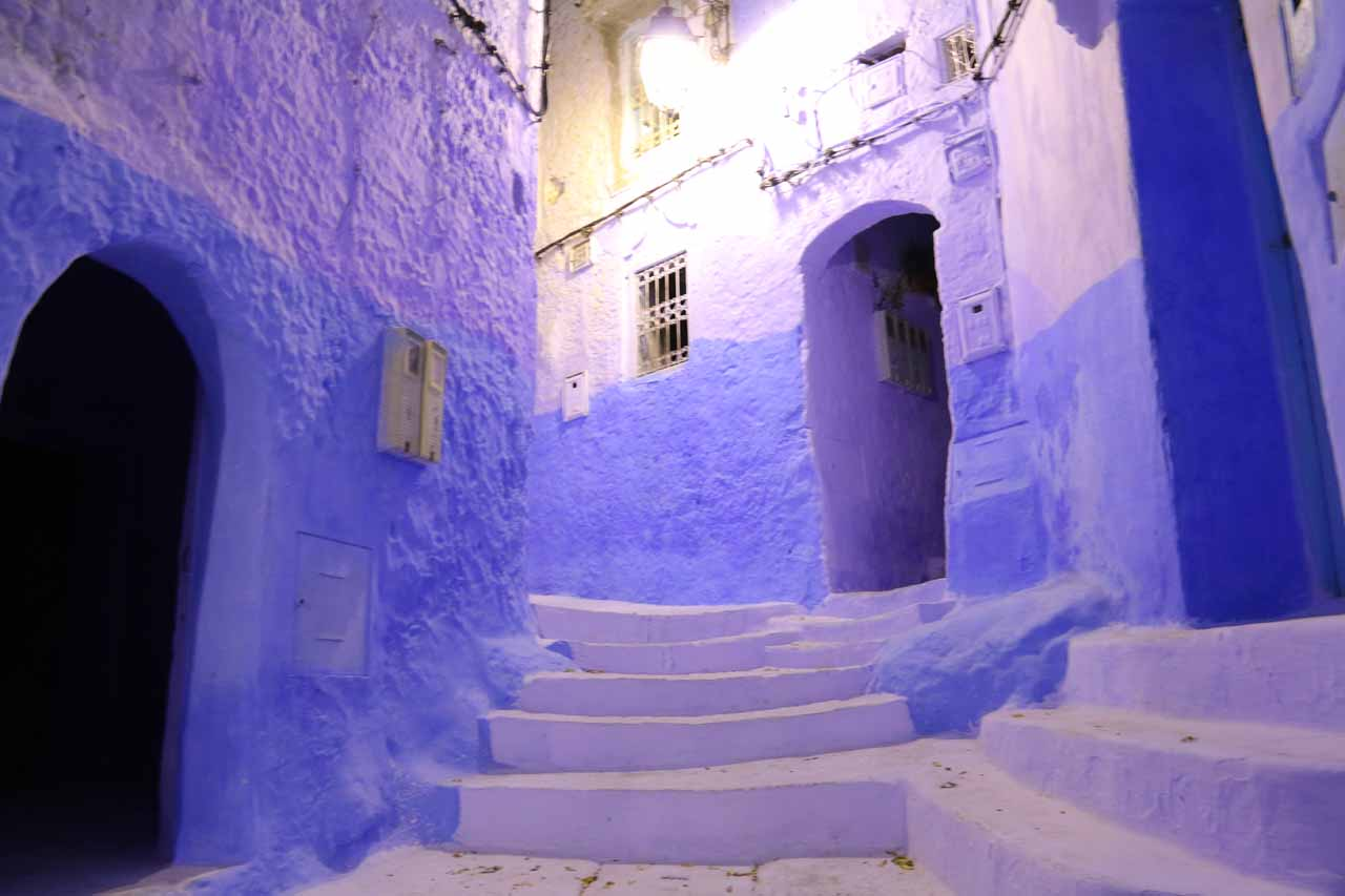 Twilight in the medina of Chefchaouen