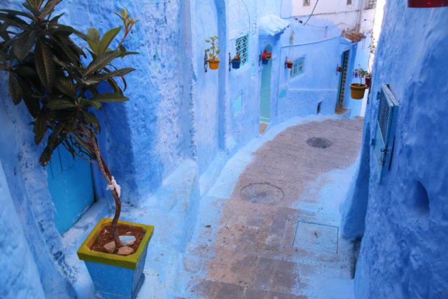 Chefchaouen_650_05212015 - One of the secluded alleyways within the magical medina of Chefchaouen
