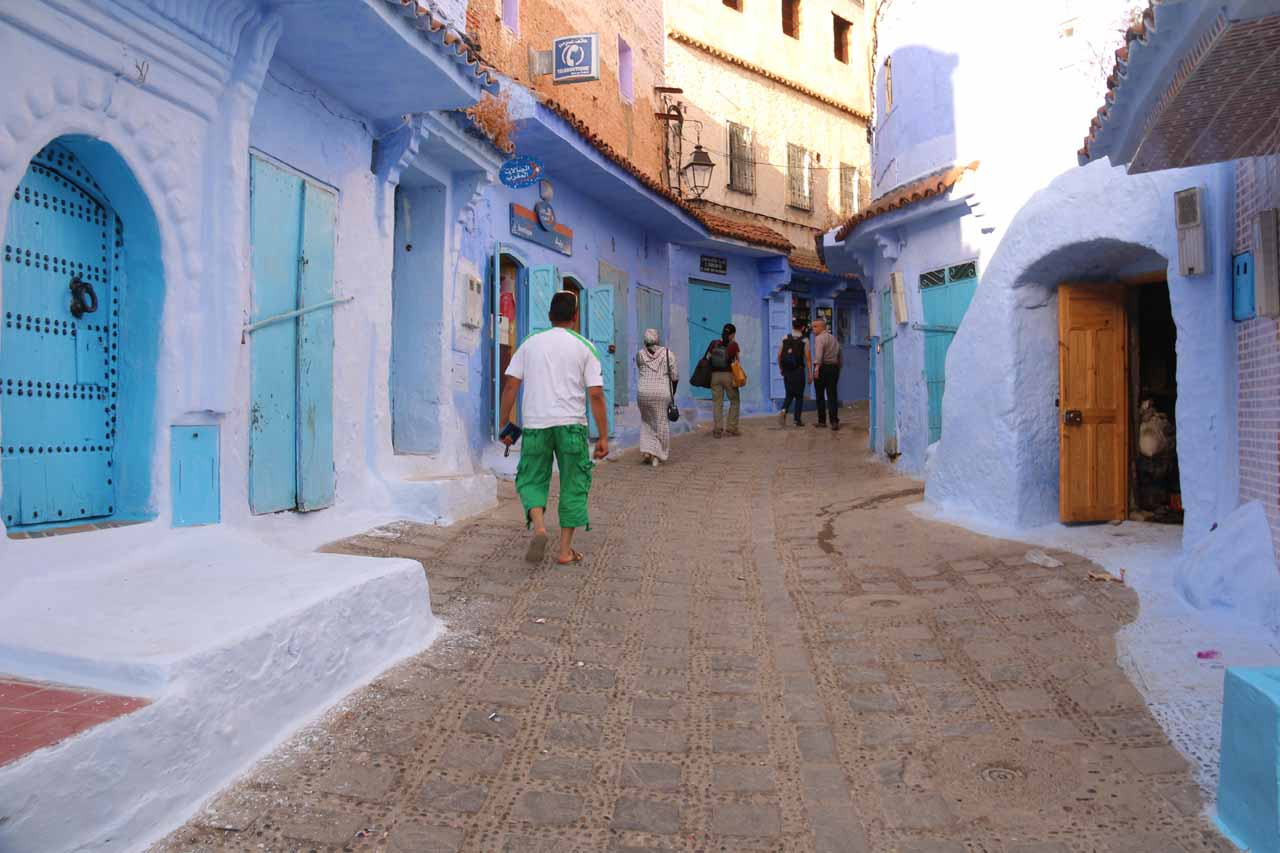 Back in the blue medina of Chefchaouen