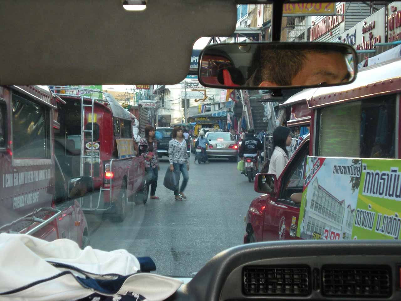 Weaving through Chiang Mai traffic