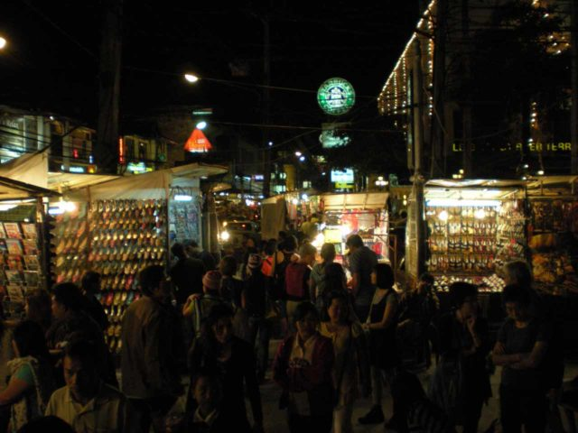 Chiang_Mai_058_jx_12302008 - Just south of Mae Sa was the city of Chiang Mai and its atmospheric night markets.  When the Sunday Walking Street was not on, we checked out the night bazaar