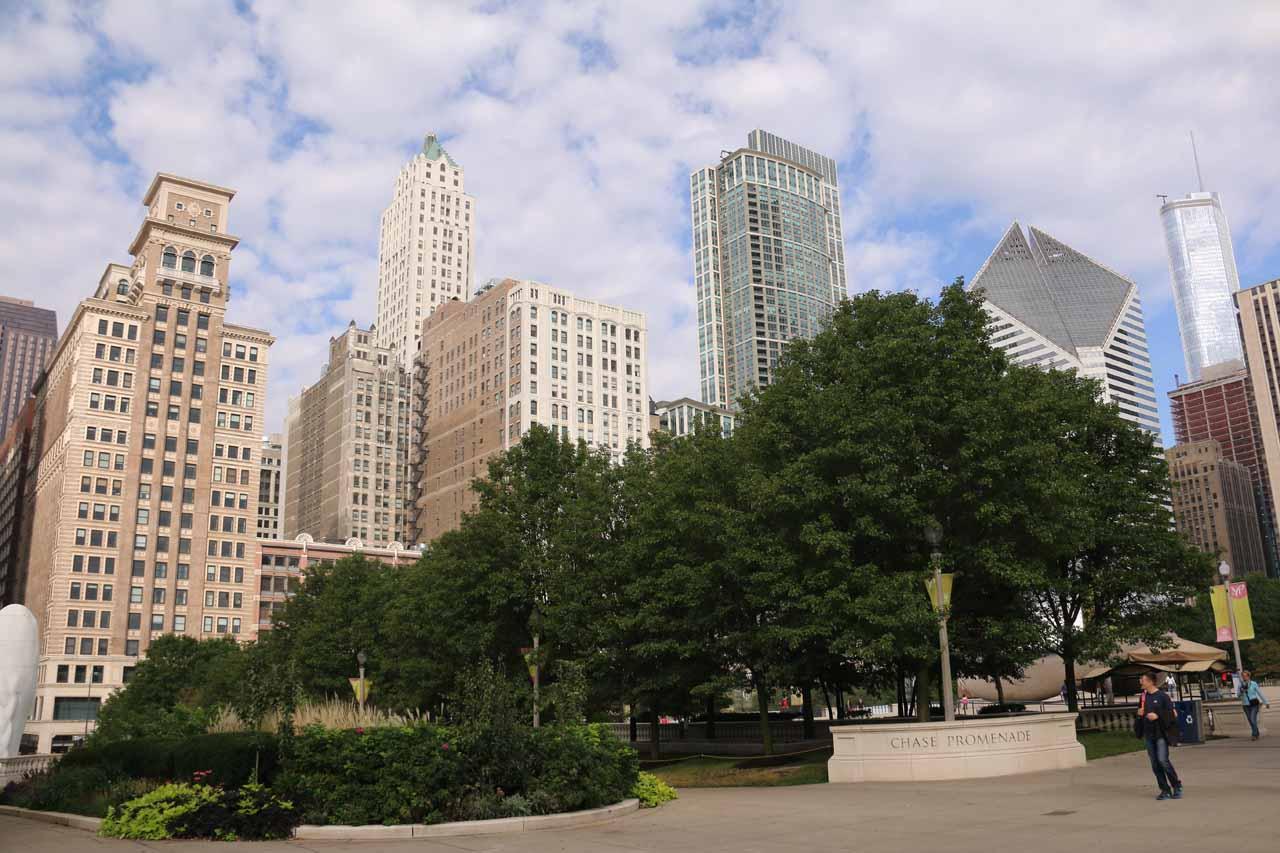 More skyscrapers backing Millenium Park