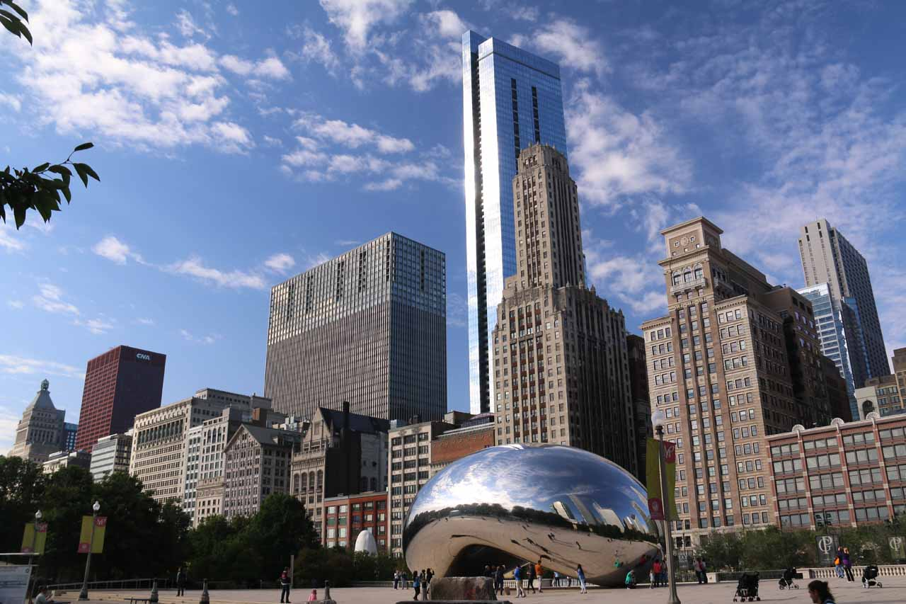 Cascade Falls was less than 2 hours drive west of Chicago, a very attractive city rivaling New York City in terms of must-see cities in the USA. Shown here is the famous bean at Millenium Park