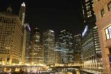 Chicago_550_10072015 - Night time at the Chicago River and skyscrapers by the Trump Tower