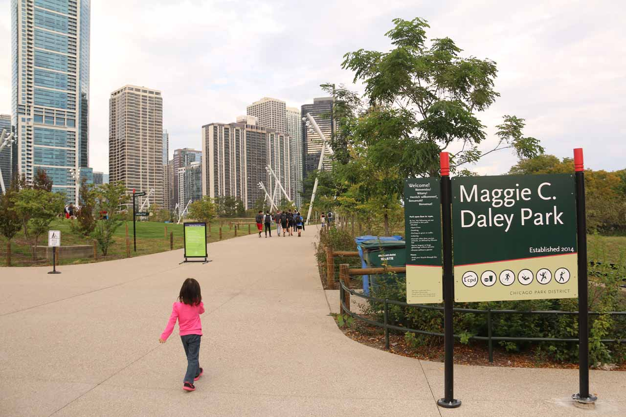 Finally making it to the Maggie C Daley Park again